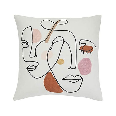 Retreat Abstract Natural Cushion