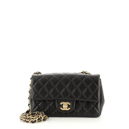 Classic Single Flap Bag Quilted Lambskin Mini