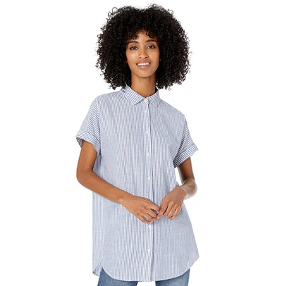 Goodthreads Women's Washed Cotton Short-Sleeve Tunic