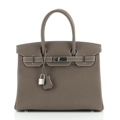 Birkin Handbag Etoupe Togo with Palladium Hardware 30