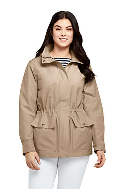 Land's End Women's Plus Size Lightweight Cotton Jacket