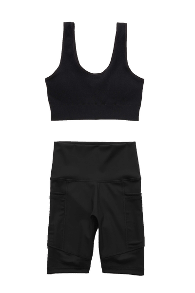 Chill Seamless Padded Bralette and High Waisted Bike Short