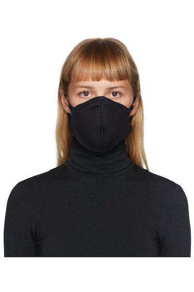Black Jersey Face Mask
