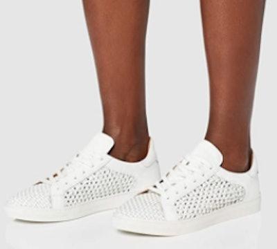 find. Women's Weave Leather Sneakers