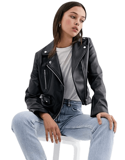 Ultimate Faux-Leather Biker Jacket