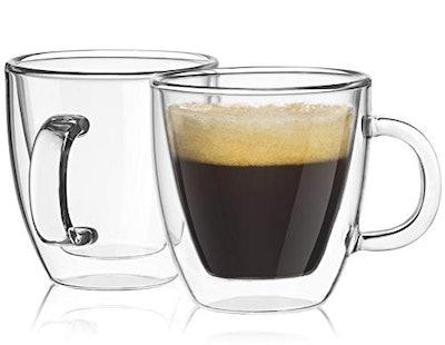 JoyJolt Insulated Espresso Mugs (Set of 2)