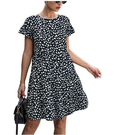 KIRUNDO Women's Ruffle Mini Dress