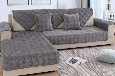 OstepDecor Quilted Sectional Couch Covers (2-Piece)