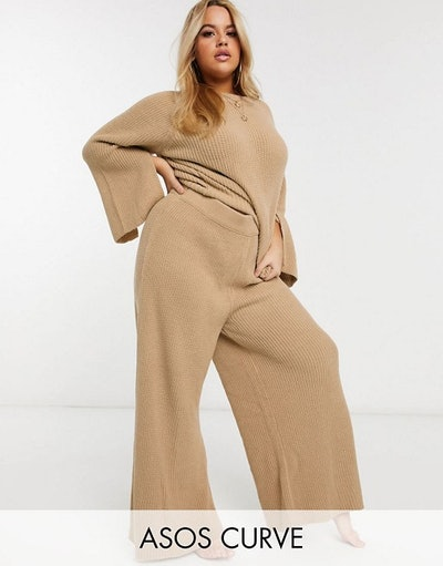 Curve lounge premium knitted jumper and trouser set