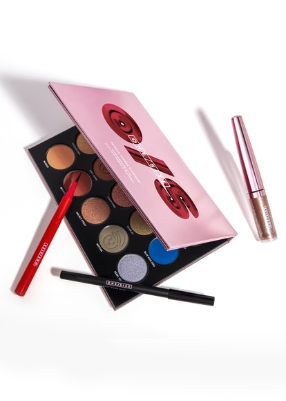 Gel eyeliner, liquid eyeliner, liquid eyeshadow, and eyeshadow palette from ONE/SIZE's new Visionary Collection.