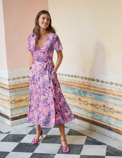 Cassia Jersey Wrap Dress
