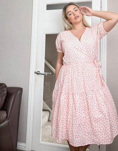 Daisy Street Plus midaxi wrap dress