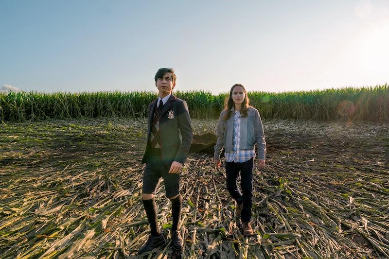 Five and Vanya in Umbrella Academy Season 2 via the Netflix press site