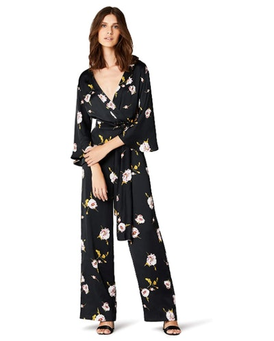 TRUTH & FABLE Women's Kimono Sleeve Floral Jumpsuit