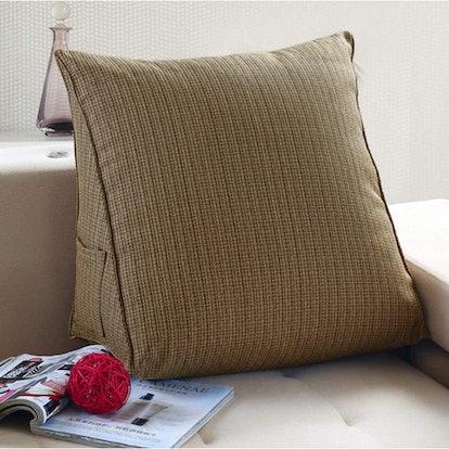 WOWMAX Cotton Filled Triangular Wedge Pillow
