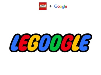 A combination of Lego's red logo and Google's blue, red, and yellow colors.