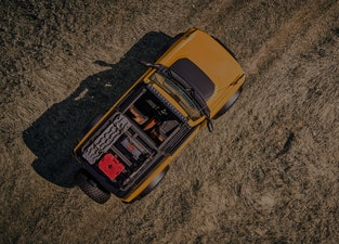 The 2021 Ford Bronco viewed from above.
