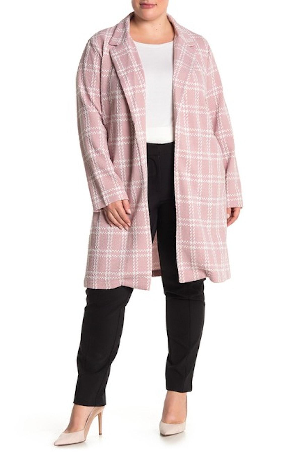 Melloday Plaid Print Jacket