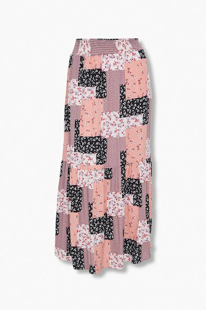 Forever 21 Plus Size Patchwork Maxi Skirt