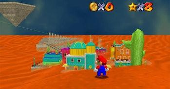 A screenshot of Mario Odyssey 64