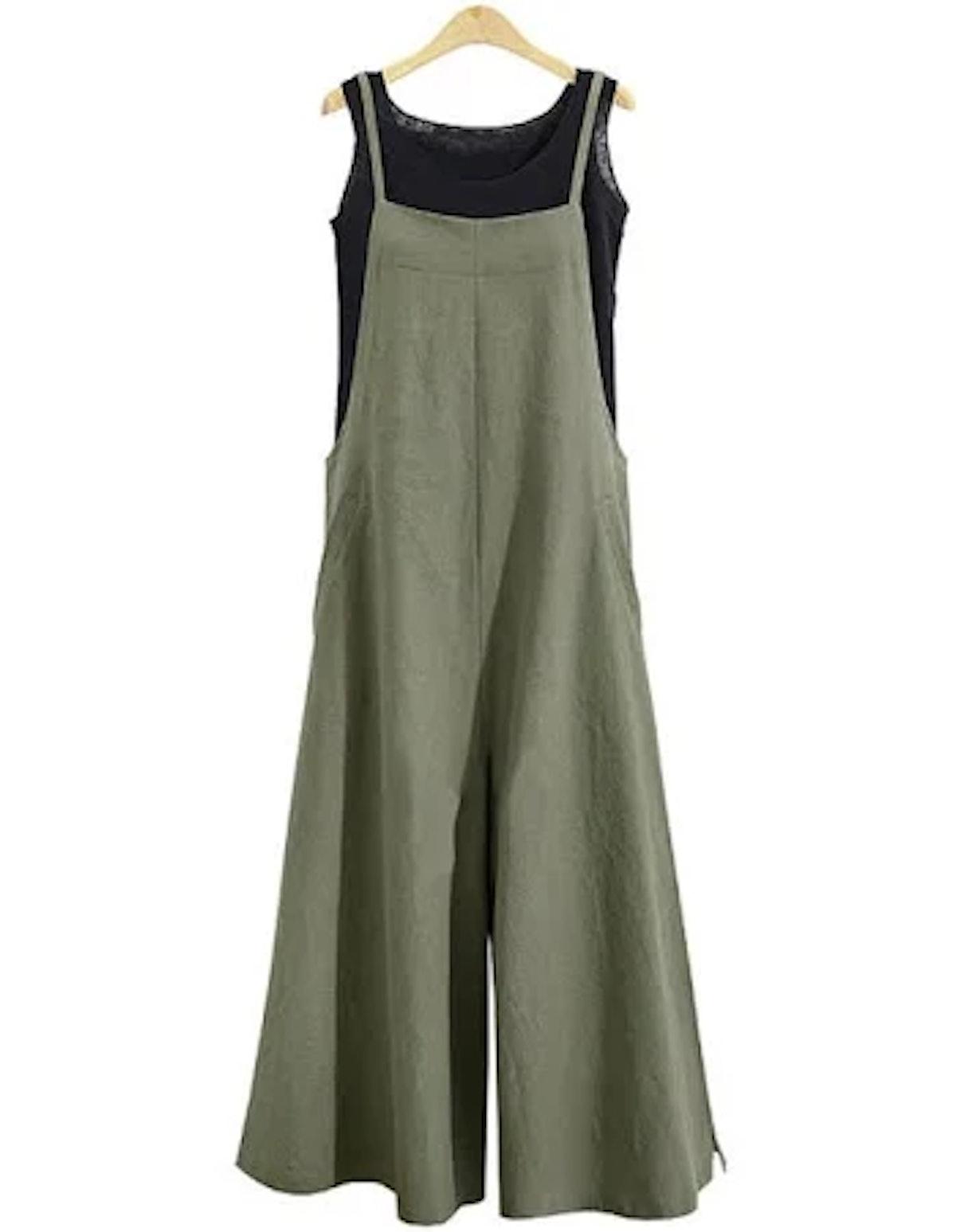 Banggood Women Overalls Bib Pants Loose Pockets Jumpsui