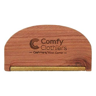 Comfy Clothiers Cedar Wood Cashmere & Fine Wool Comb for De-Pilling Sweaters & Clothing