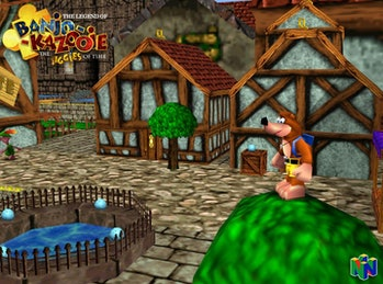 A screenshot from Bano-Kazooie: The Jiggies of Time