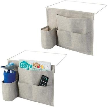 mDesign Bedside Storage Organizer