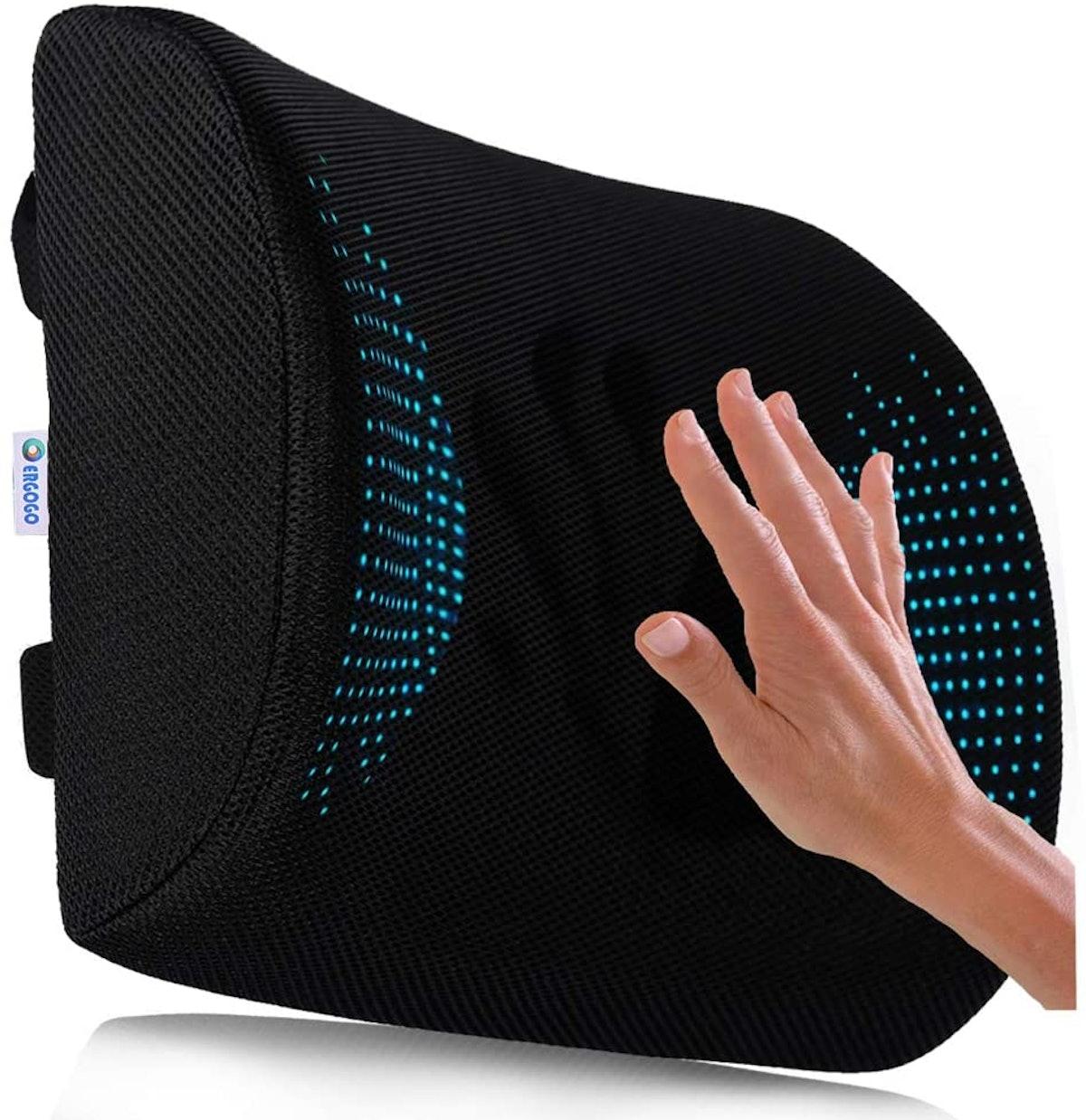 RGOGO Memory Foam Lumbar Support Pillow