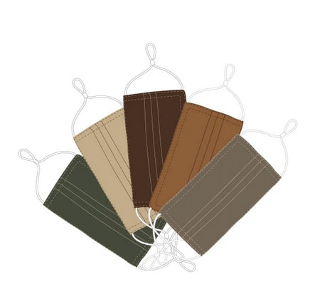 5 Universal Masks Assorted Earth Colors