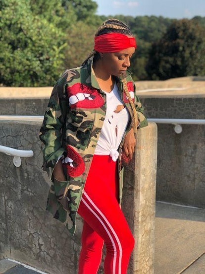 Shun Melson Camo Red Lip Jacket