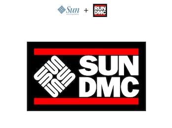 A combination of Sun Microsystems and Run-DMC's logos.