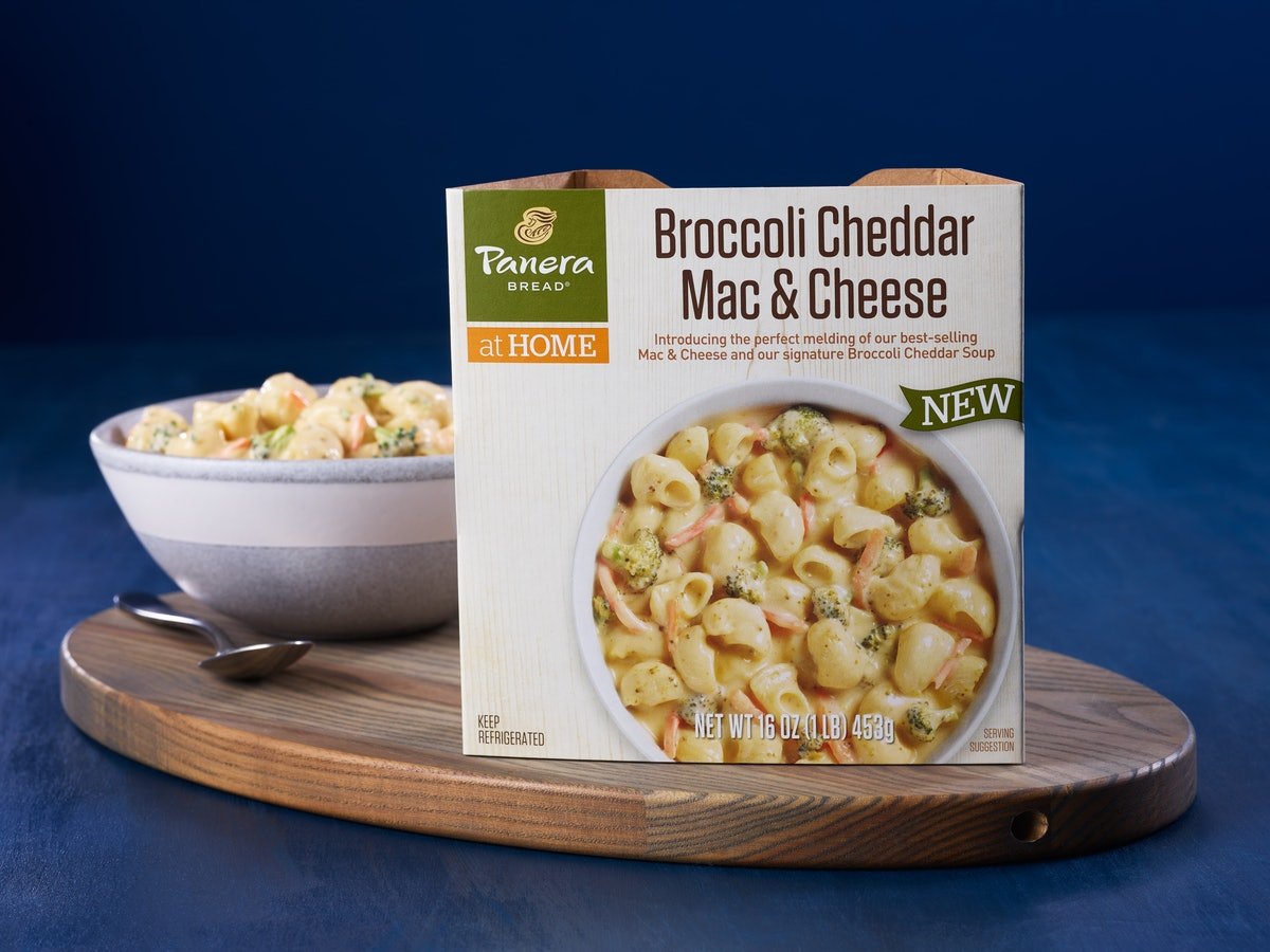 Panera is selling Broccoli Cheddar Mac and Cheese in grocery stores, so get ready to upgrade your lu...