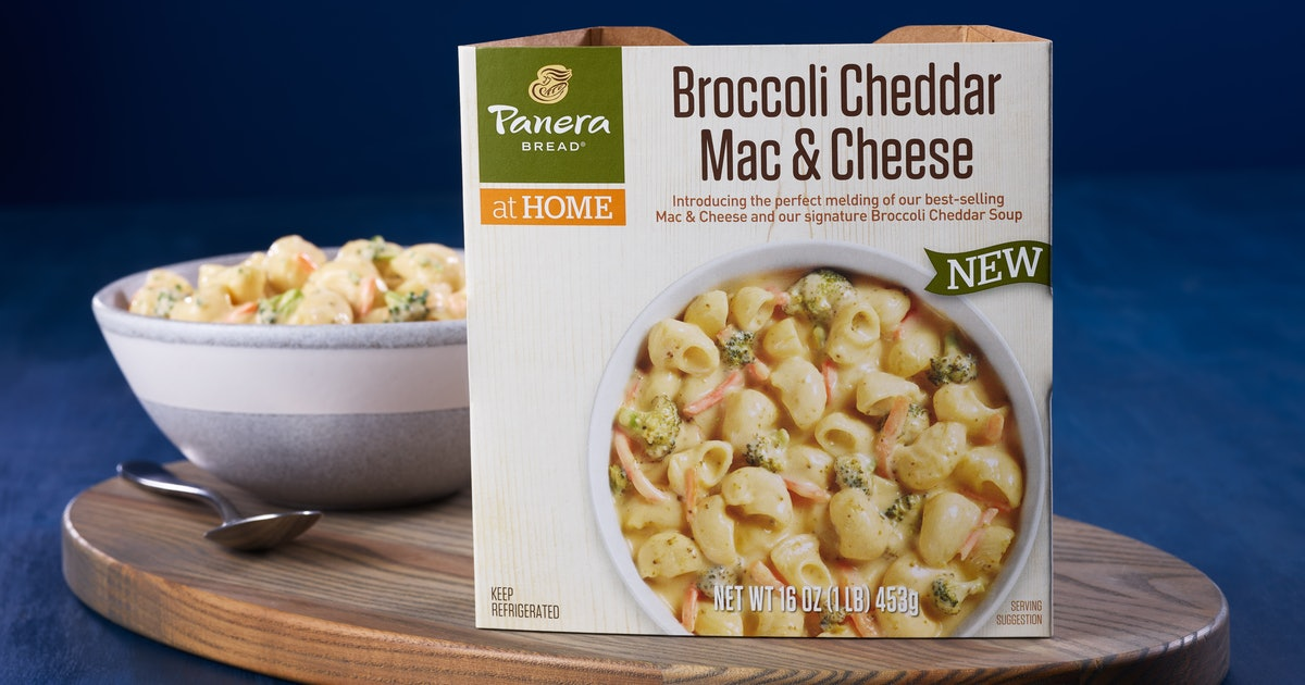Panera Just Launched A Broccoli Cheddar Mac & Cheese Mash-Up You Can Buy In Grocery Stores