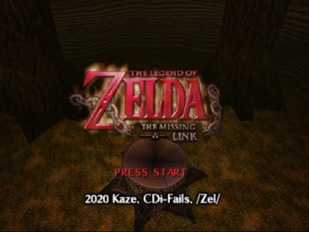 The title screen of The Legend of Zelda: The Missing Link