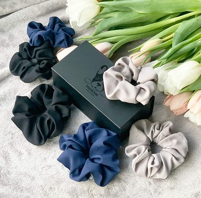 FRENCHIE SCRUNCHIES | Exquisite Scrunchies in Classic Colours (6-Pack)
