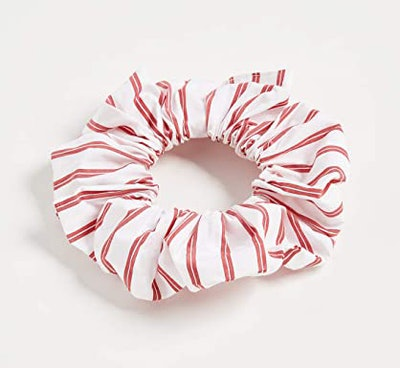 GANNI Stripe Cotton Scrunchie, Lollipop
