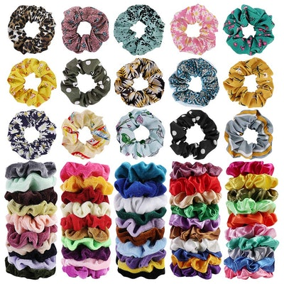 Cehomi Hair Scrunchies (65-Pack)