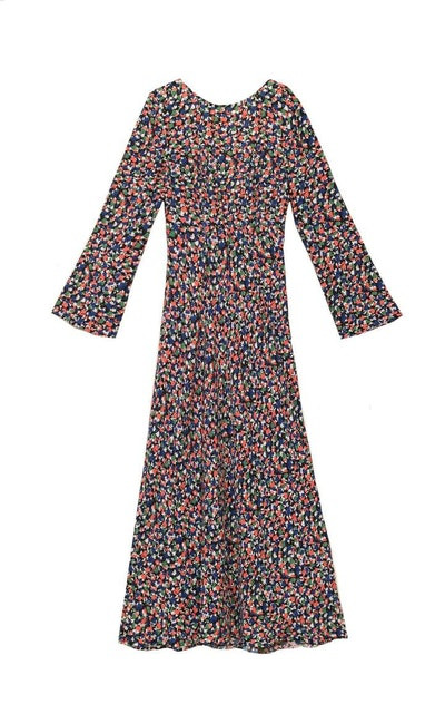 Mimi Smudge Print Midaxi Dress