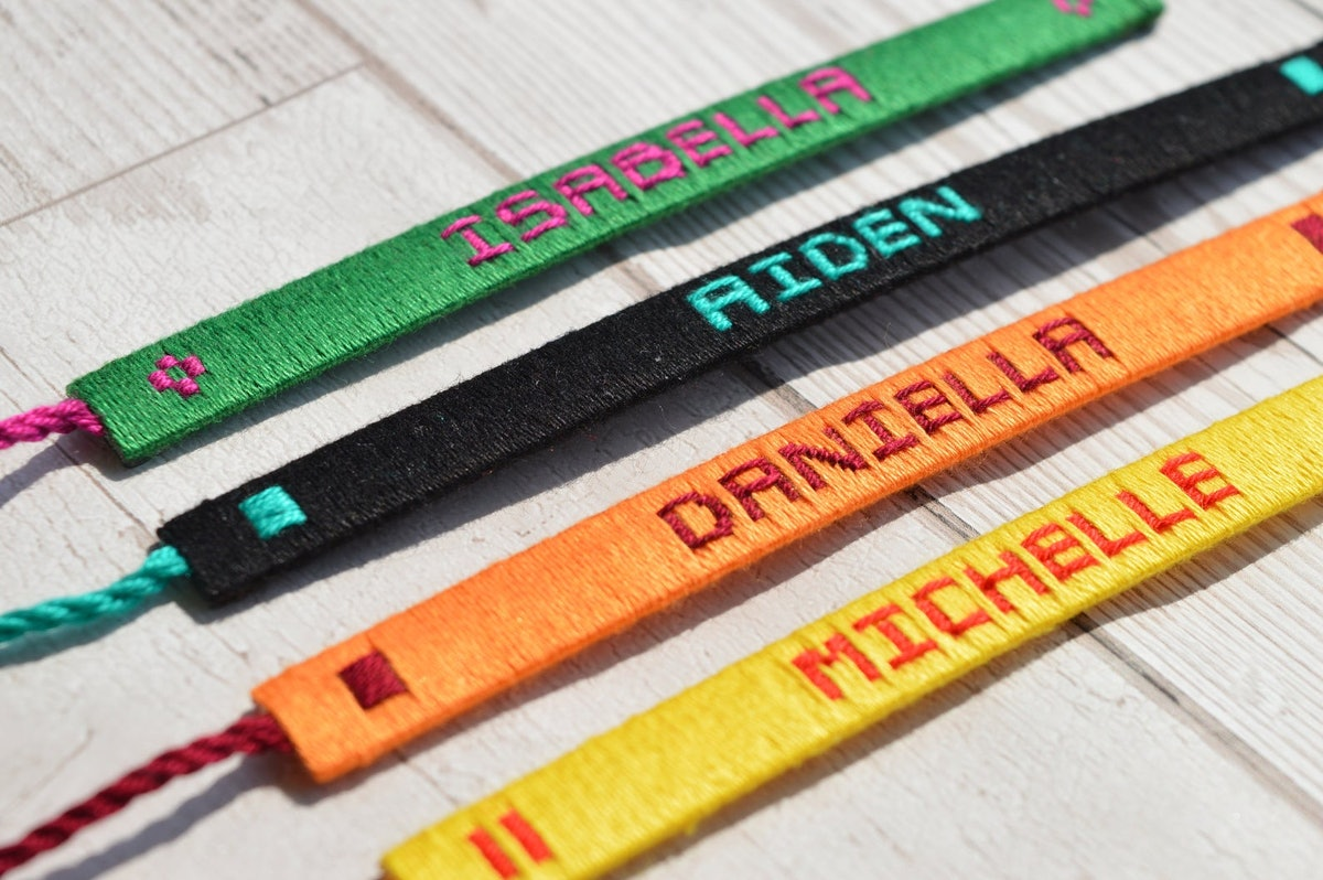 Personalised Woven Name Bracelet