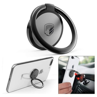 FITFORT Metal Ring Grip for Magnetic Car Mount