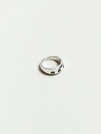 Mabel Ring in Peridot and Sterling Silver