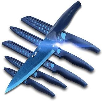 Wanbasion Blue Professional Kitchen Knife Set (Set of 6)