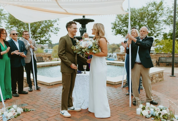 Quarantine wedding stories are especially inspiring.