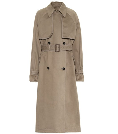 Brushed Cotton Trench Coat