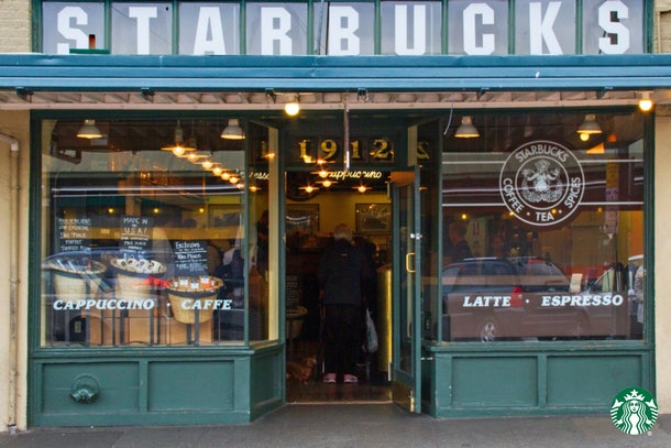 The original Starbucks is depicted in Starbucks Zoom Backgrounds round-up.