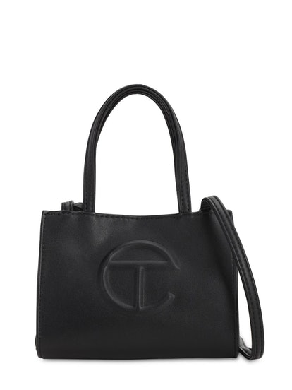 Small Embossed Logo Shopper Tote Bag