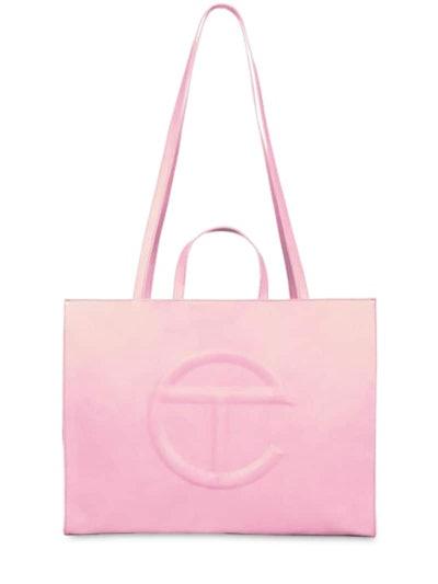 Large Embossed Logo Shopper Tote Bag