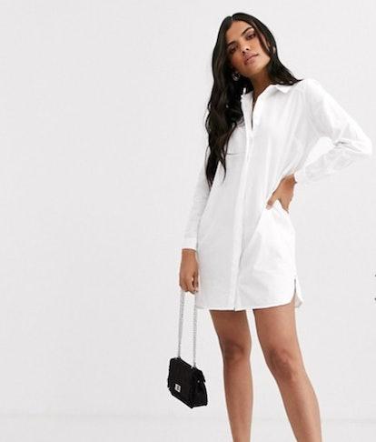 ASOS DESIGN Cotton Mini Shirt Dress