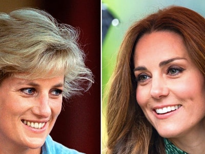 Kate Middleton's dress looks much like one Princess Diana wore.